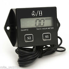 Hour meter 2&4 Stroke gasoline Engine Spark For Boat/Motocross/Bike 12V Car LCD