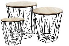 TWINS ROUND OU SQUARE TABLE BASSE  BOIS ET METAL STYLE MODERNE MARQUE TUTUMI