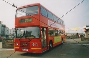 BUS PHOTO,SOUTHERN VECTIS PHOTOGRAPH PICTURE,LEYLAND OLYMPIAN,RED ROUGE 717 RYDE