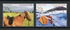 Iceland 2017 MNH Tourist Stamps VI Horses Glaciers 2v Set Tourism Landscapes