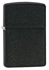 Zippo Black Crackle WindProof Lighter Model 236 Lifetime Guarantee NEW L@@K