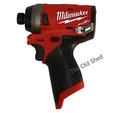 """Milwaukee M12FID-0 12V Li-Ion Cordless Fuel 1/4"""" Hex Impact Driver"""