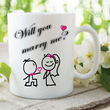 Will You Marry Me Mug Surprise Announcement Proposal Girlfriend Gift WSDMUG255