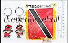 Trinidad and Tobago Mini Flag Boy Girl Key Ring Car Rear View Mirror