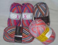 400 gr Sockenwolle 4-fach / 4-fädig Regia, Gründl, Pro Lana Kombipaket 3