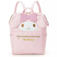 Cute My Melody Girls Backpack PU Leather Shoulder Bag Students School Bookbag