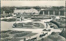 Postcard posted 1962 Lancashire Blackpool Italian gardens and lake Real photo