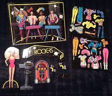 Vintage 1986 Mattel Barbie Rockers Paper Doll Cut-Outs Collectible