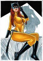 MARVEL Comics HELLCAT Original Art JESSICA JONES TRISH PATSY WALKER AVENGERS
