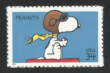 Snoopy The Red Baron WWI Flying Ace Sopwith Camel Dog On Doghouse Peanuts Stamp!