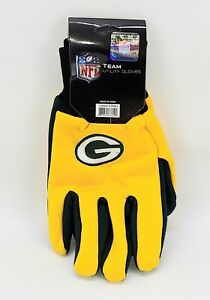 NFL Team Utility Gloves ~ Green Bay Packers ~ Forever Collectibles