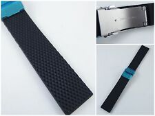 HQ 22mm RUBBER WATCH BAND FOR ORIS BC STY DIVER STRAP 22 MM w/20MM STEEL BUCKLE