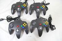 Fully Tested Lot 4 Original Nintendo 64 Controller Pad Black Gray Tight stick