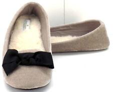 KATE SPADE Velour Shearling Ballerina Bow Slip On Slippers Women's US Size 7