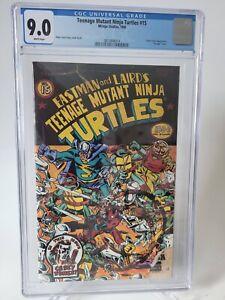 TEENAGE MUTANT NINJA TURTLES #15 CGC 9.0 GRADED 1988 MIRAGE EARLY CASEY JONES!