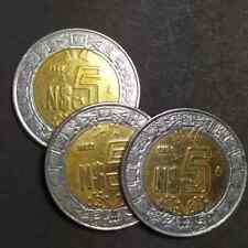 Mexico  $5 Nuevos Pesos Coins  1992,1993 y 1994