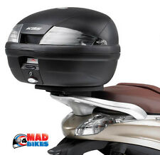 Kappa K35nt Moto / scooter Top Box Monolock & Placa de montaje universal