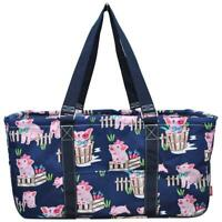 """Canvas Classic XL All Purpose Open 23/"""" Utility Tote Bag FREE SHIP Pig Farm Navy"""