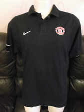 Manchester United FC Black Polo Shirt Size Large