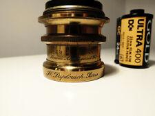 H. DUPLOUICH PARIS Simili Anastigmat F/8 French Brass Lens