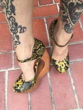 Jeffrey Campbell Rock-Play, Mustard Black Snake, 8.5