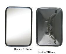 Außenspiegel Bügelspiegel LKW Bagger Uni Star 310x210mm ø18mm Metall Gehäuse 24V