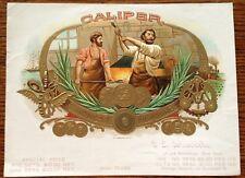 Caliper Original Antique Cigar Box Label Art OL Schwencke Stone Lithograph NY