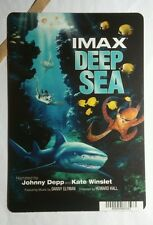 DEEP SEA IMAX JOHNNY DEPP KATE WINSLET MINI POSTER BACKER CARD (NOT A movie )