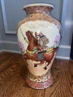 Beautiful Satsuma Hand Painted Japanese Vase