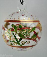 Nagel Glas handbemalte Glaskugel Weihnachten ca. 10,5 cm