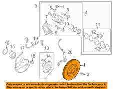 KIA OEM 10-13 Forte Front Brake-Disc Rotor 517121M000