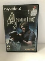 Resident Evil 4 Black Label Complete Case & Manual PlayStation 2 PS2 Tested