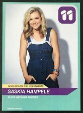 SASKIA HAMPELE *Georgia Brooks* Channel 11 NEIGHBOURS Cast Fan Card •Rare•