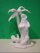 LENOX NATIVITY INNKEEPER'S DAUGHTER Bone China NEW in BOX withCOA Bisque Chicken
