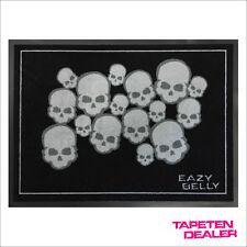 Totenkopf Fussmatte / Eazybelly / Skulls / Totenköpfe / Grau 901/ 50 cm * 70 cm