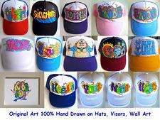 Trucker Hats Caps Personalized Customized Graffiti Hand Drawn Airbrush Baseball