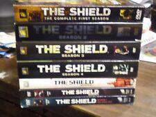 (7) The Shield Season DVD Lot: Seasons 1, 2, 3, 4, 5 6 & 7     All w/Slipcovers