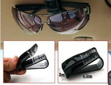 1Pc Black Car Auto Glasses Sunglasses Card Visor Pen Business Card Clip Holder