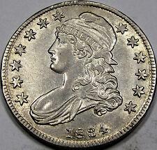 1834 O-109 Capped Bust Half Dollar Super Choice AU-BU... Very FLASHY & So NICE!!