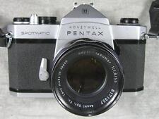 Vintage Honeywell Pentax Sportmatic 35mm Camera Takumar 55mm lens