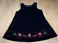 Size 24 Months Christmas Velour Navy Jumper Dress Candy Canes Holly EUC
