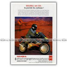 PUB GILERA 125 CX - Original Advert / Publicité Moto de 1992