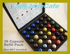 36 NESPRESSO CAPSULE POD Discovery Box COFFEE REFILL