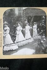STA435 Mariage robe défilé wedding march STEREO albumen Photography Stereoview