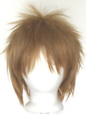 13'' Spiky Short Hazelnut Brown Synthetic Cosplay Wig NEW