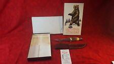 VINTAGE 1973-78 CASE XX KODIAK HUNTER SPORTSMAN'S HUNTING KNIFE + SCABBARD + BOX