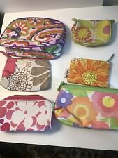 Lot of 6: Clinique Makeup Bags Assorted Sizes And Prints