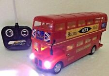 LONDON TRANSPORT RED BUS R/C RADIO REMOTE CONTROL 1:16 DOUBLE DECKER LONDON BUS