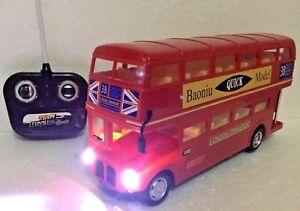 LONDON TRANSPORT RED BUS R/C RADIO REMOTE CONTROL 1:16 DOUBLE DECKER LONDON BUS