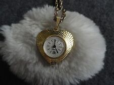 Swiss Made Etienne Wind Up Necklace Pendant Watch